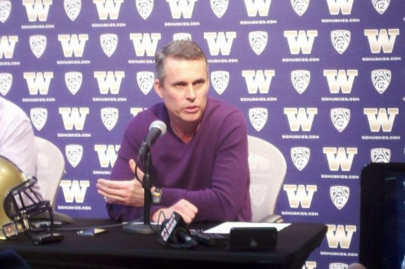 Chris Petersen deemed LB/RB Shaq Thompson the best player in college football during his Monday press conference. / Art Thiel, Sportspress Northwest