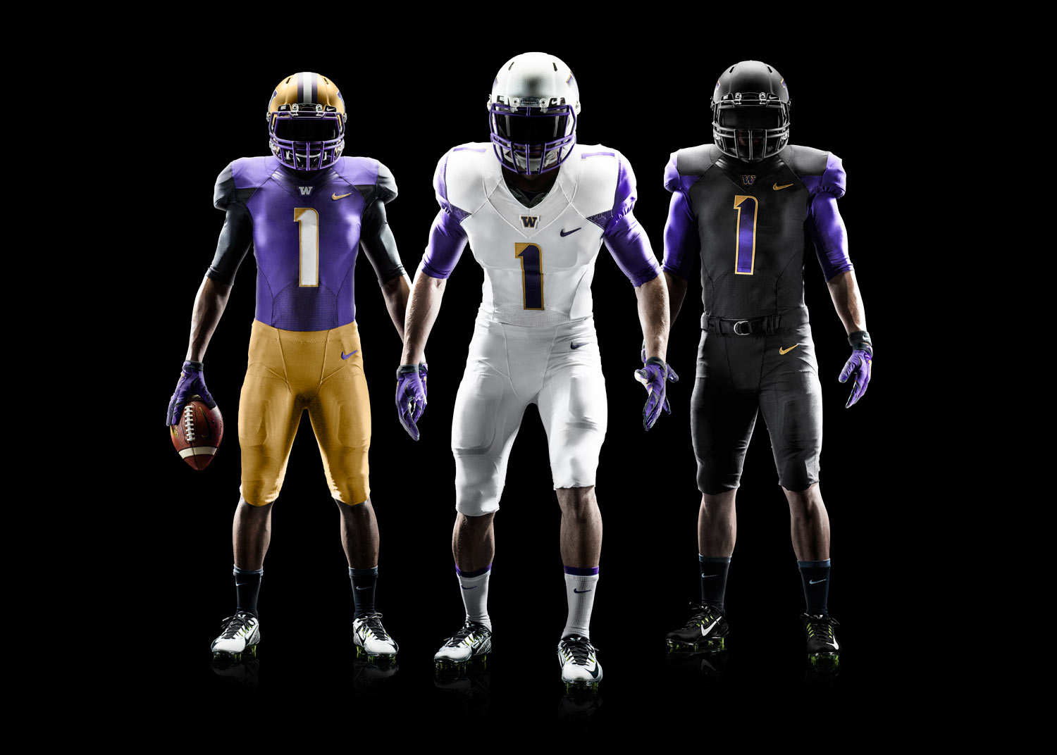 The Huskies will be in new duds for the new stadium and a new coach, thanks to an old partner -- Nike. / Nike.com