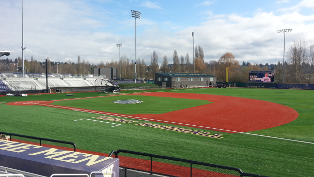 The new Huskies ballyard will host the Cougars in a three-game series starting Friday. / Jason A. Churchill