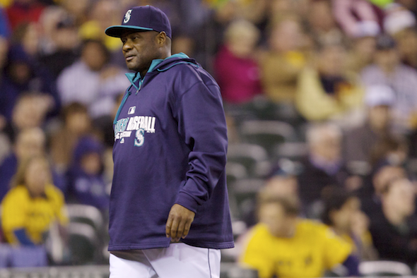 Lloyd McClendon is a largely unconcerned about the Mariners' punchlessness. / Drew Sellers, Sportspress Northwest