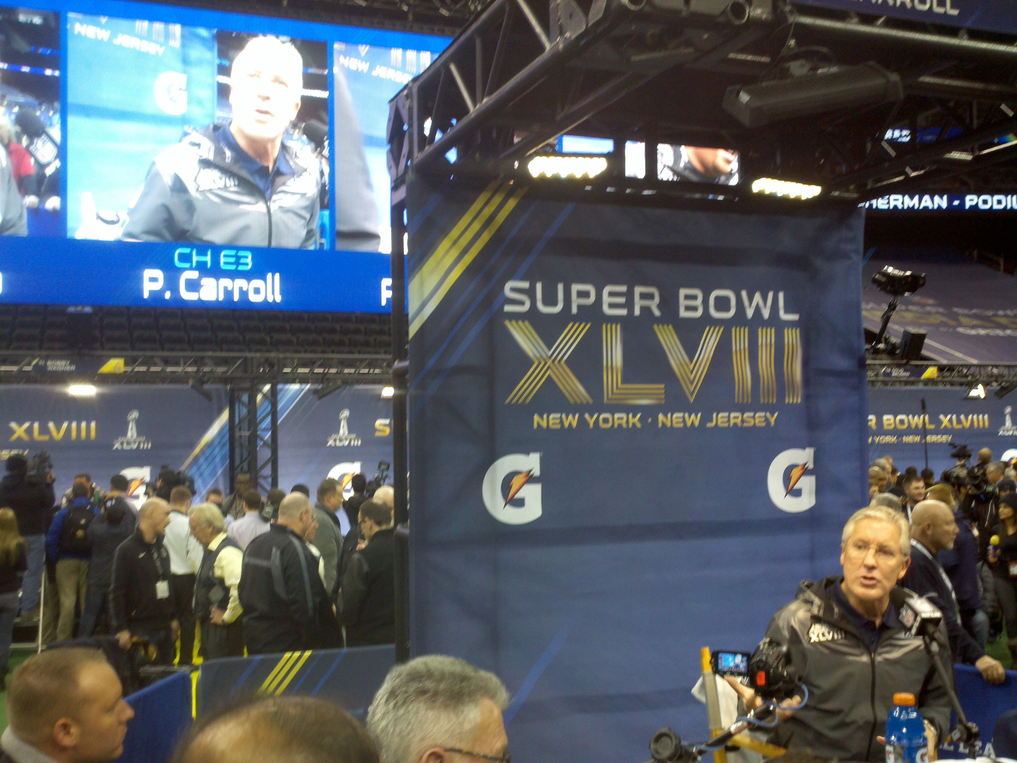 Pete Carroll in New York was sometimes bigger than life. / Art Thiel, Sportspress Northwest