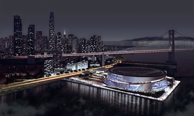 The plan to put an NBA arena on abandoned public piers in San Francisco was abandoned in favor of 12 acres south of the Giants ballpark. / City of San Francisco