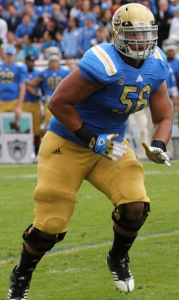 Xavier Su'a-Filo of UCLA is primarily a guard, but has the ability to slot in at tackle in the NFL. / Wiki Commons