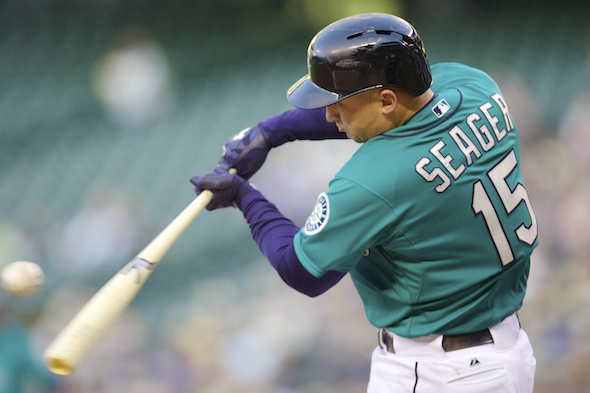 Kyle Seager has hit 11 home runs this season at Safeco Field after hitting 13 in x at-bats before this season. / Drew Sellers, Sportspress Northwest