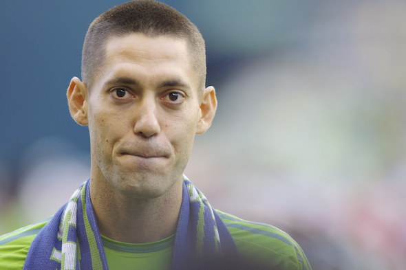 Clint Dempsey scored his second goal at the World Cup, but Portugal salvaged a 2-2 tie Sunday in Manaus, Brazil. / Drew Sellers, Sportspress Northwest