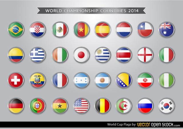Flags for the 2014 World Cup.