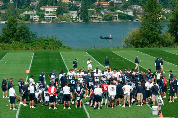 The Seahawks allowed ESPN unprecedented access to Tuesday's practice at the Virgina Mason Athletic Center. The network televised the session for nearly two hours. / Seahawks.com