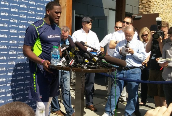Seahawks DE Frank Clark dismissed from practice for punch; 'Not OK'