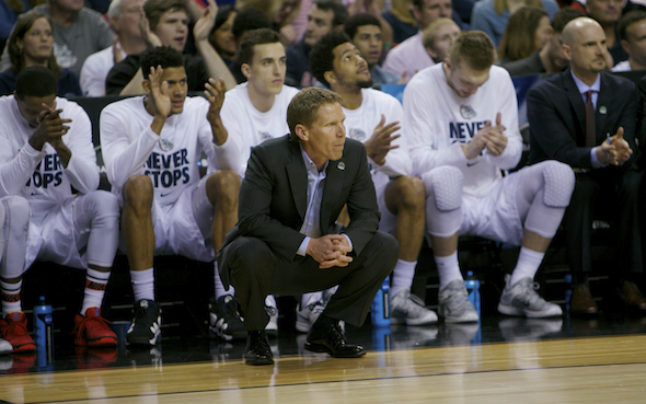 It's 19 tourney appearances in a row for coach Mark Few and Gonzaga. / Drew Sellers, Sportspress Northwest