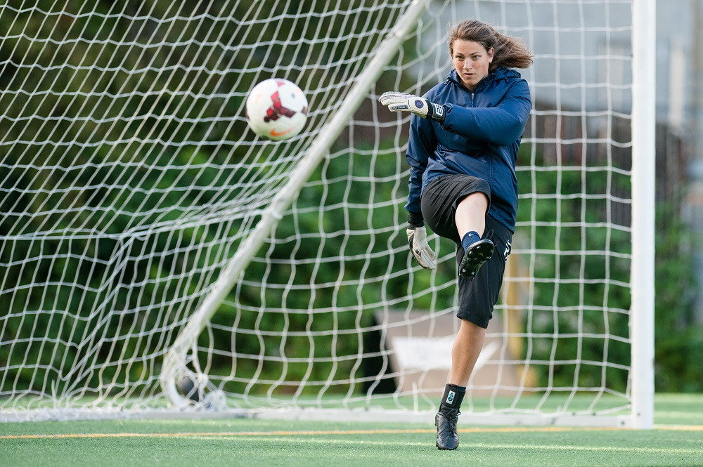 Goalkeeper Haley Kopmeyer made eight saves in Saturday's 1-1 draw. / ISI Photos