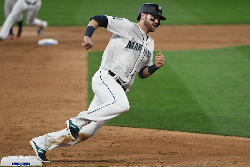 Mitch Haniger's three hits Wednesday pushed his team-leading average to .324. / Alan Chitlik, Sportspress Northwest