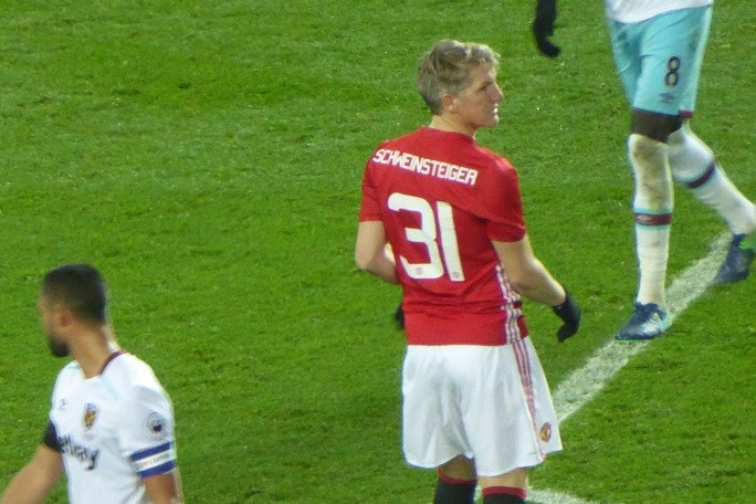 German Bastian Schweinsteiger, pictured here playing for Manchester United, is the centerpiece of the Chicago Fire's resurgence. / Wiki Commons