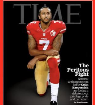 Kaepernick made the cover of Time magazine. / Time