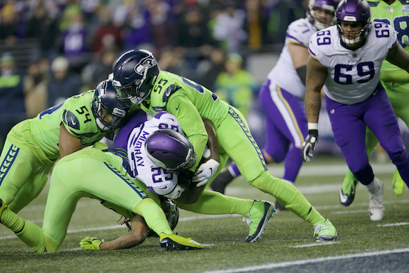 Seahawks Vikings odds spread over under line Monday Night Football